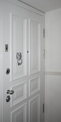 Apartment Doors with Electric Finger Scan System Security Level 2