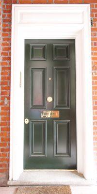 Beautiful RAL 6016 Security Doors Level 2