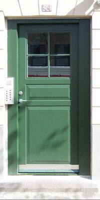 Green RAL6010 Apartment Doors Security Level 2