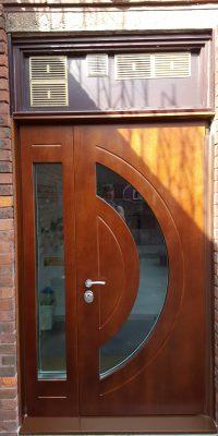 Nursery Security Doors with Moon Shape Glazing Security Level 2