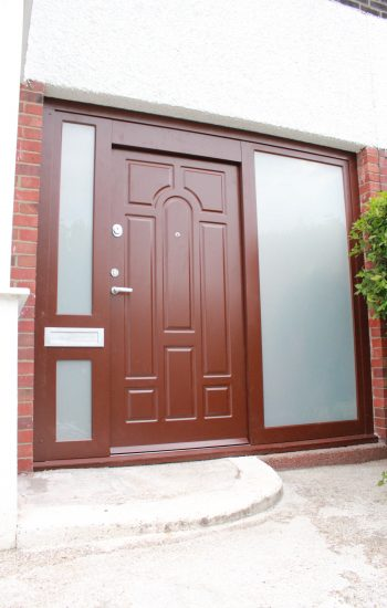Red Security Doors Level 2 with Glazing