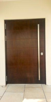 Security Doors Wood Veneer Finish Level 2 Security