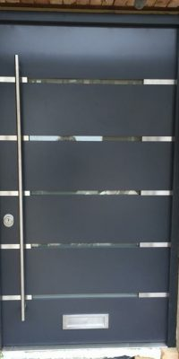 Steel Doors with Small Wide Glazing Level 2 Security