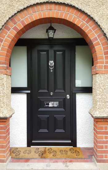 Victorian Style Doors with 2 Side Glazings Level 2 Security