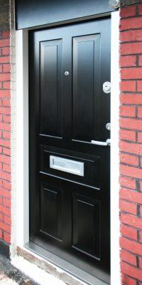 Black Colour Security Doors London Knights Mark Level 2