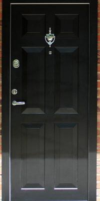 Georgian Style Doors Security Doors Black Level 2