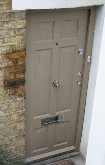 Grey Colour Security Doors London Level 1