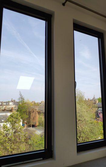 Two Aluminium Windows Tilt and Turn Black Colour