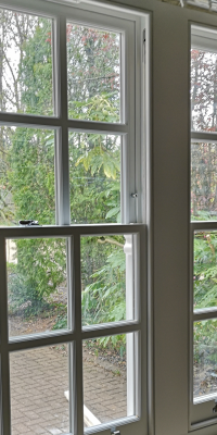 Double Sash Window From Inside