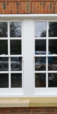 Double Sash Window Outside View