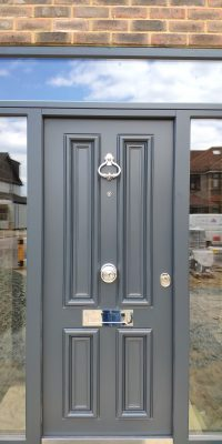 Security Doors Level 2 with Glazing Around Traditional Design