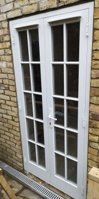 Timber French Doors With Bars