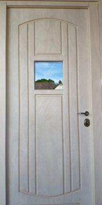 Security Doors Level 2 Okoume Veneer White Finish