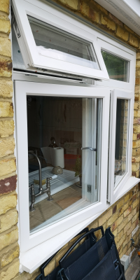 Wooden Casement Window with Ventilation Openinigs