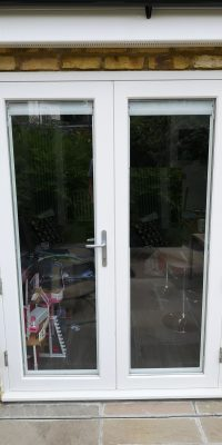 Wooden French Doors in White