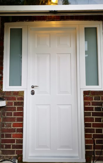 Security Doors Victorian Style Knights Mark in White Colour