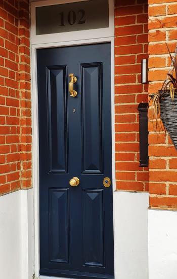 Security Doors in Blue Level 2 Doors Knights Mark