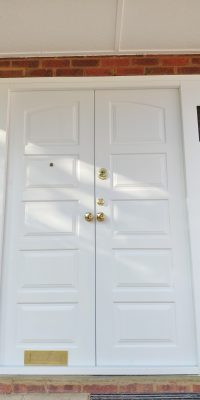 Double Security Doors with Special Order Glazing