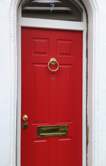 Security Doors by Knights Mark in East London Bow with Arched Top Window