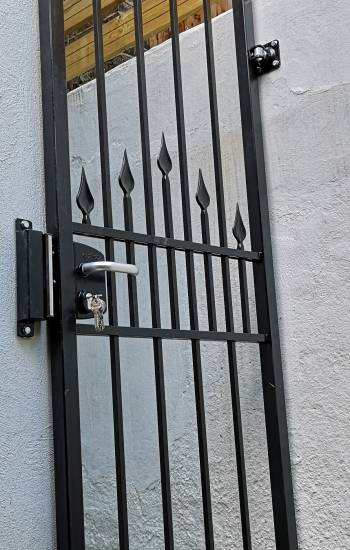 Tall Security Gates With Spikes by Knights Mark