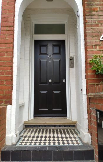 Traditional 6 Panel Security Doors in Black