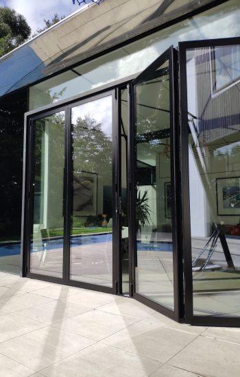 Aluminium Bi Fold Doors Opening From The Middle