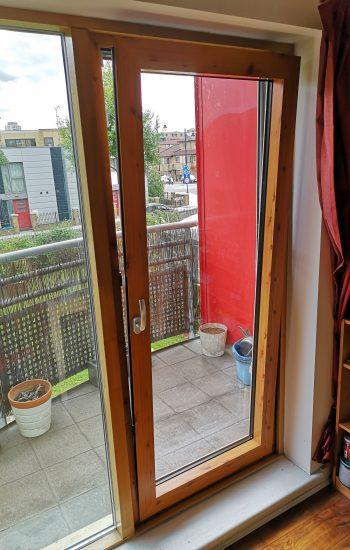 Aluminium Tilt and Turn Doors Wood Imitation