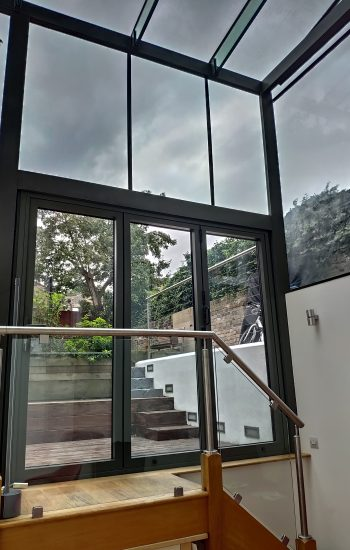 Bi Fold Doors Matching Existing Structure Colour Inside View