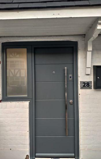 Modern Security Doors with FIAMX1R Smart Lock