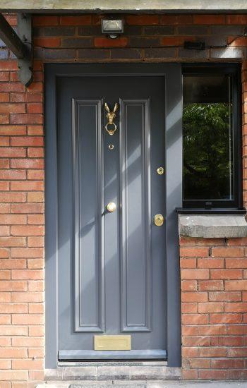 Security Doors with Rabbit Knocker 2 Panel Design