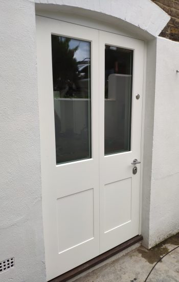 White Colour Wide Single Doors French Doors Design