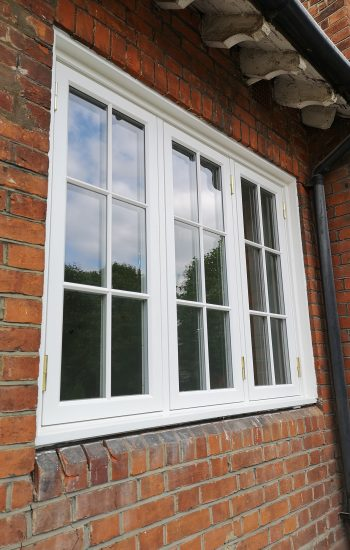 Wooden Casement Window with Traditional Bars