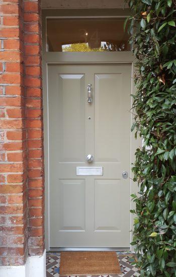 Cream Colour 4 Panel Security Doors