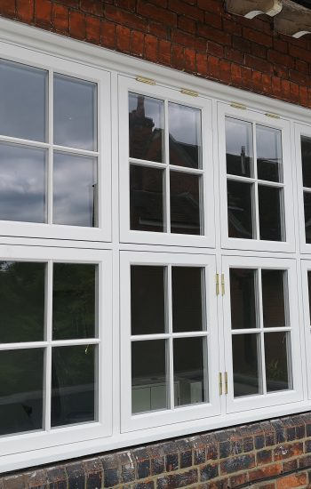 White Wooden Window Conservation Area