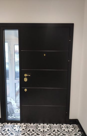 Security Doors From Inside Black Colour