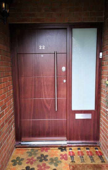 Security Doors In Redwood Colour Moder Design