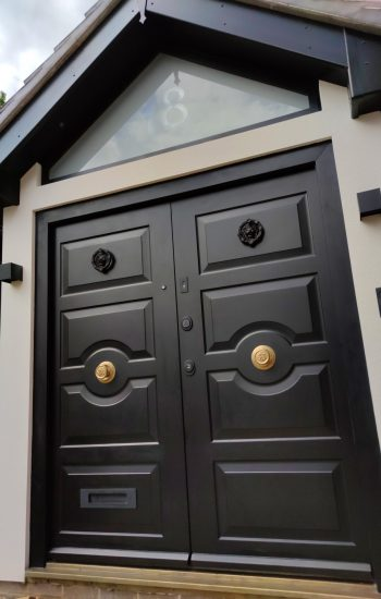 Traditional Double Security Doors with FIAMX1R Smart Lock